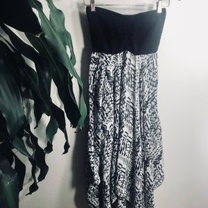 Billabong Boho Black and White Halter Dress